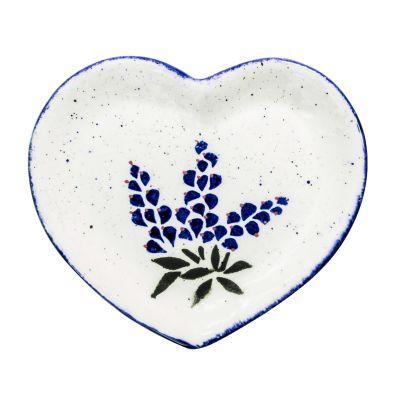 Bluebonnet Heart Dish