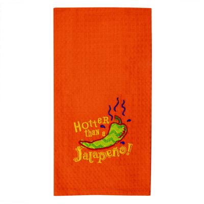 Hotter Than A Jalapeño Waffle Kitchen Towel