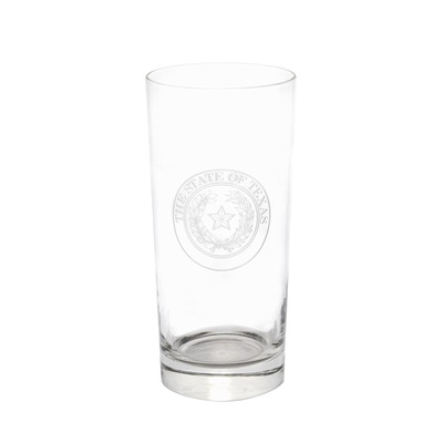 Texas State Seal Etched Glass