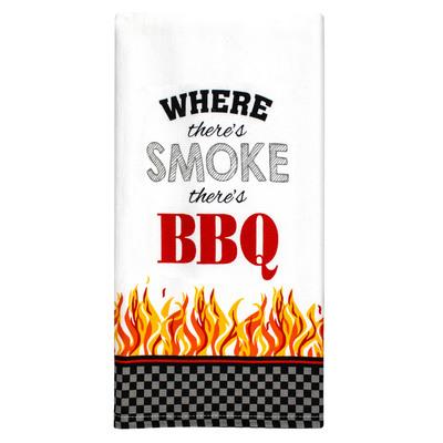 BBQ Smoke Cotton Kitchen Towel