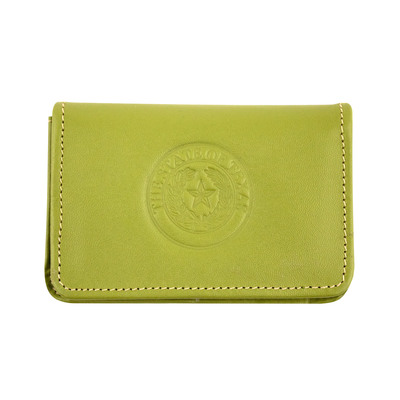 Apple Green Leather Business Card Case