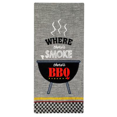 BBQ Smoke Cotton Tea Towel