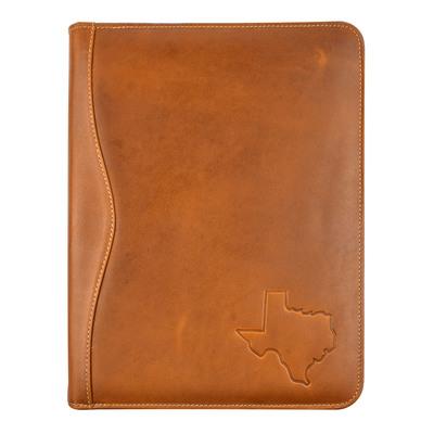 Texas Embossed Leather Padded Portfolio