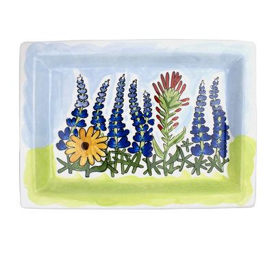 Texas Wildflower Large Ceramic Trinket Tray