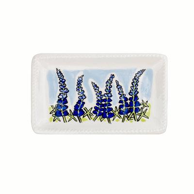 Bluebonnet Small Ceramic Trinket Tray