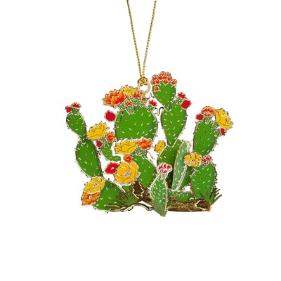 Prickly Pear Cactus Wildflower Ornament