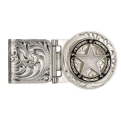 Texas Star Concho Silver Money Clip