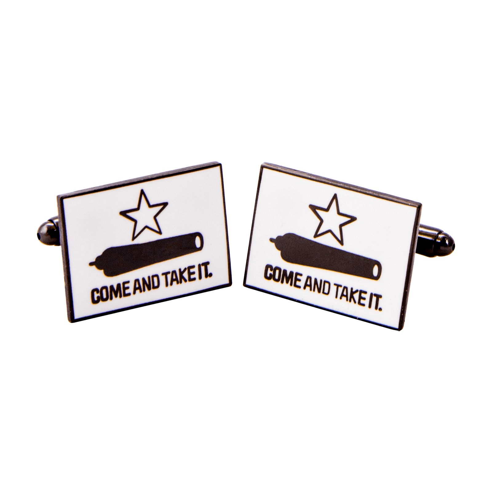 Gonzales Flag Pewter Tone Cufflinks
