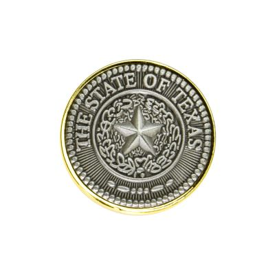 Texas State Seal Pewter Lapel Pin