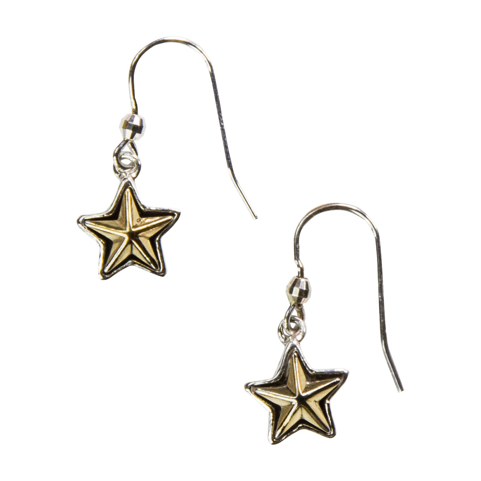 Sterling Silver Texas Star Earrings