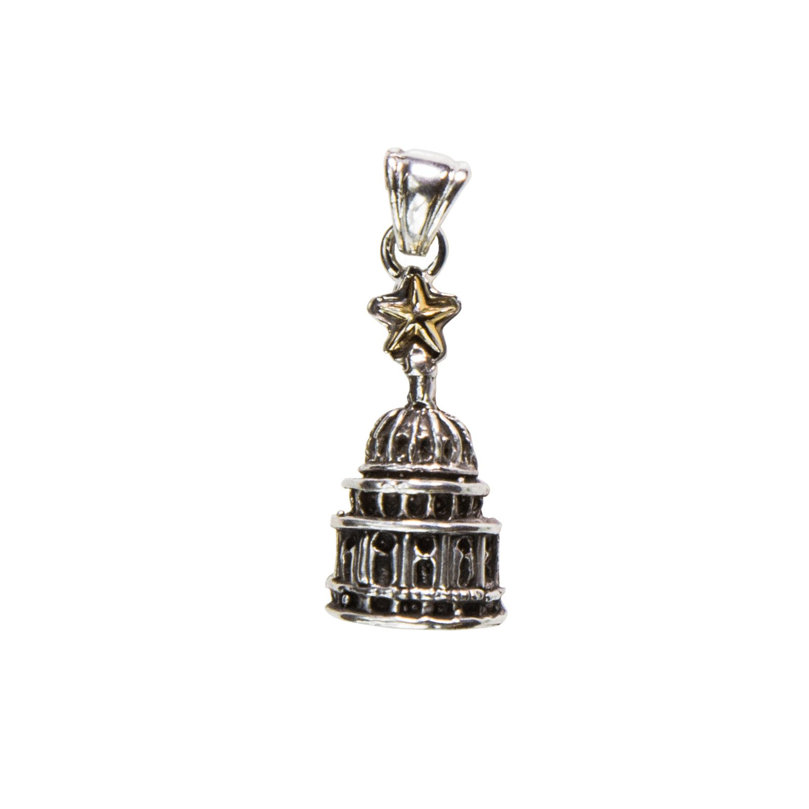 Sterling Silver Capitol Dome Pendant