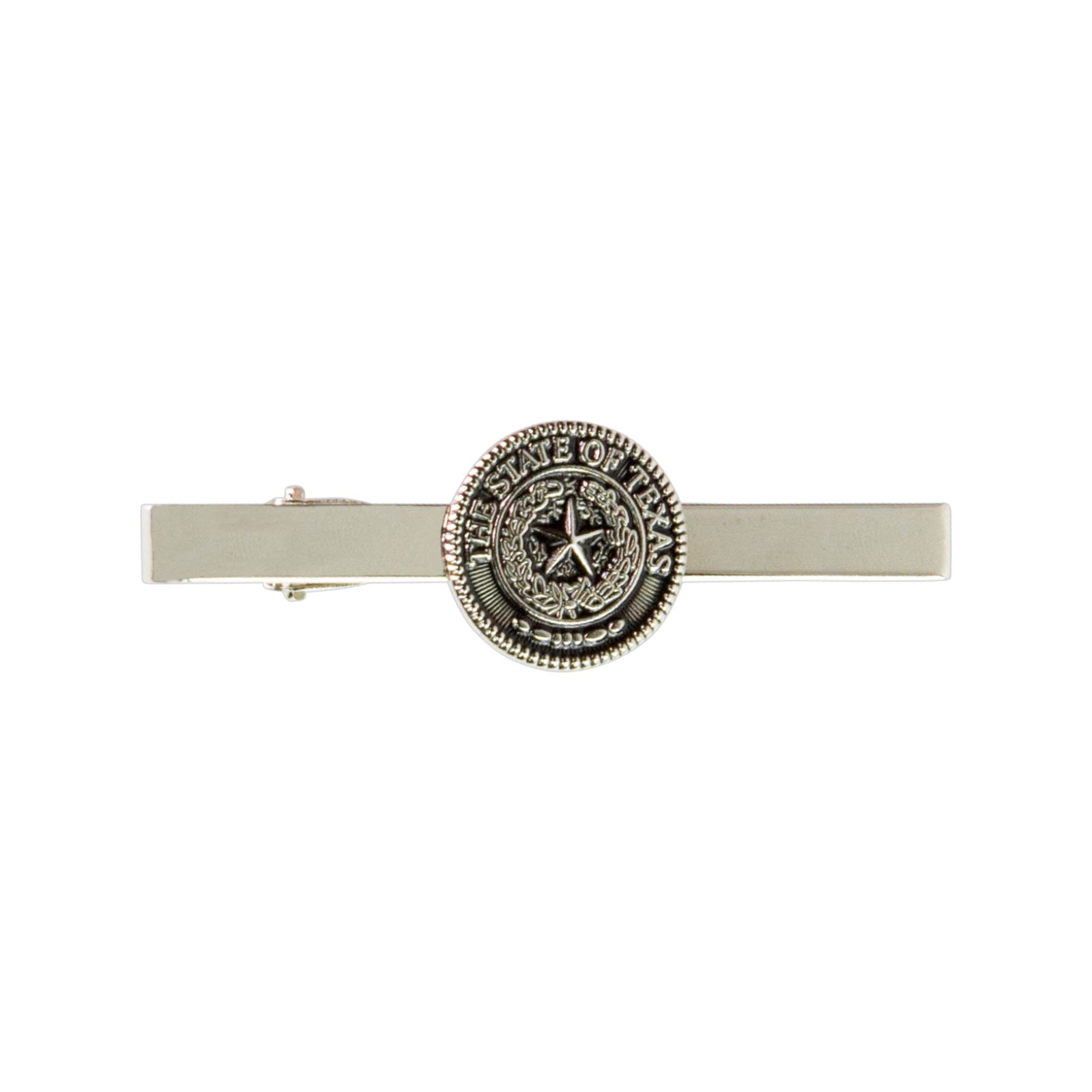 Texas State Seal Silver Tone Tie Bar