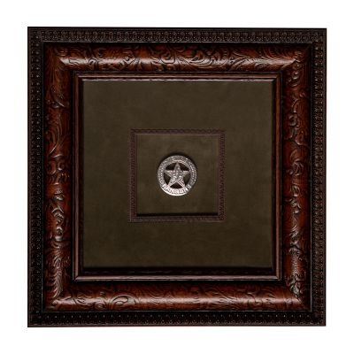 Framed Replica Texas Ranger Badge
