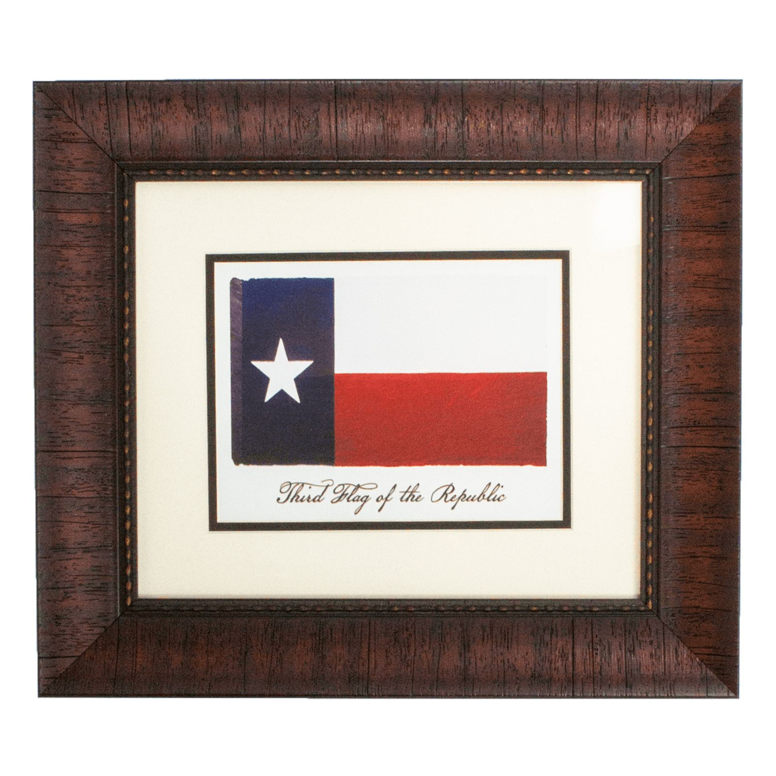 Framed Third Flag of the Republic of Texas