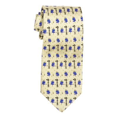 Bluebonnets and Windmills Silk Tie