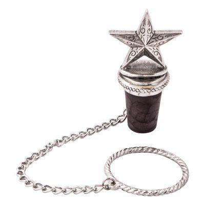 Lone Star Pewter Bottle Stopper