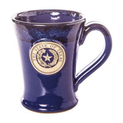 Texas State Seal Blue Stoneware Mug