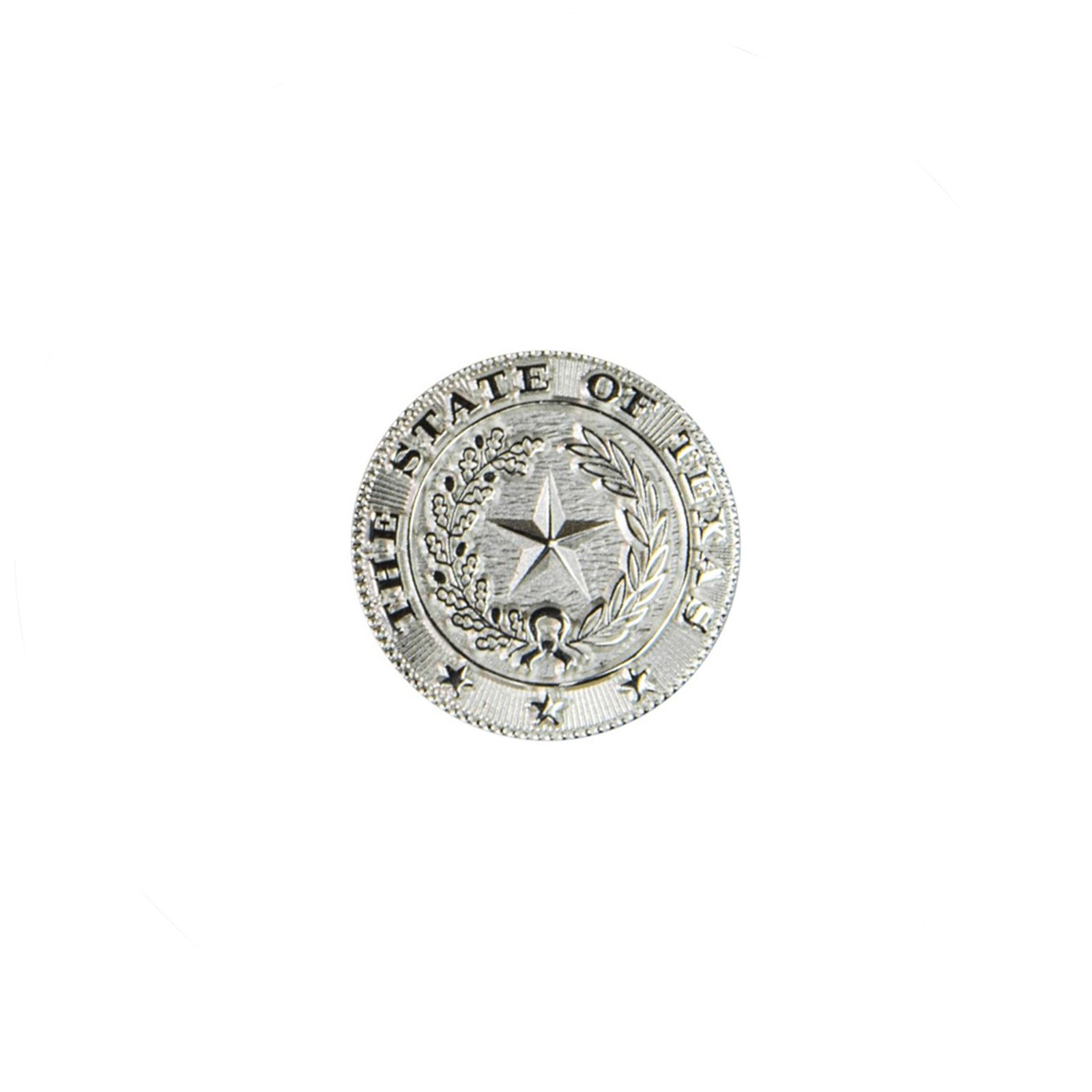 Texas State Seal Silver-Plated Lapel Pin