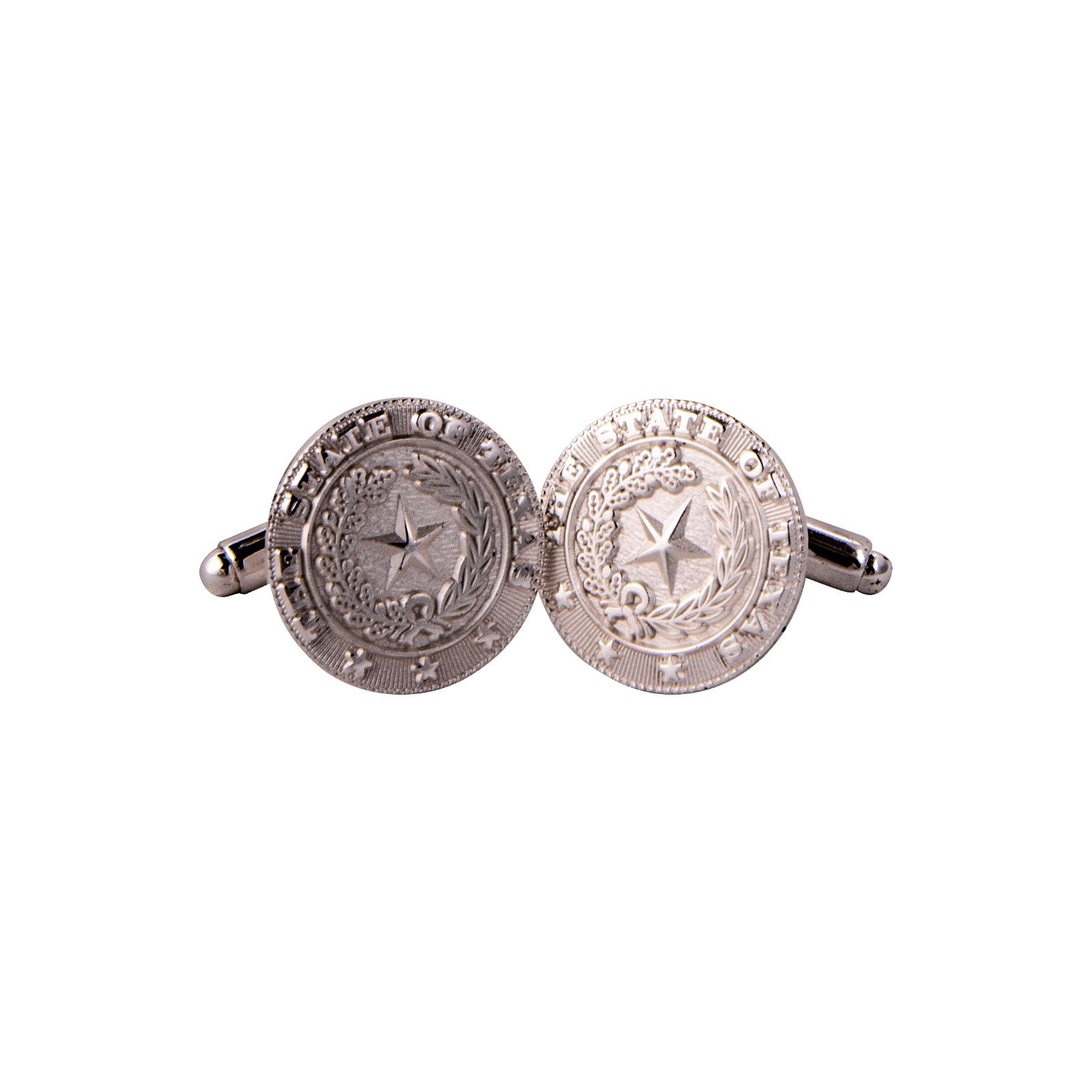 Texas State Seal Silver-Plated Cuff Links