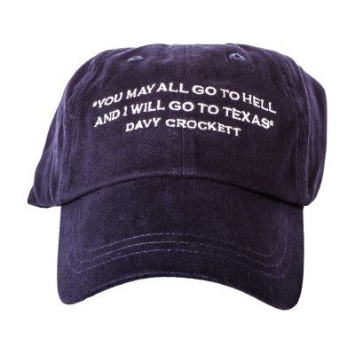 Davy Crockett Quote Baseball Cap