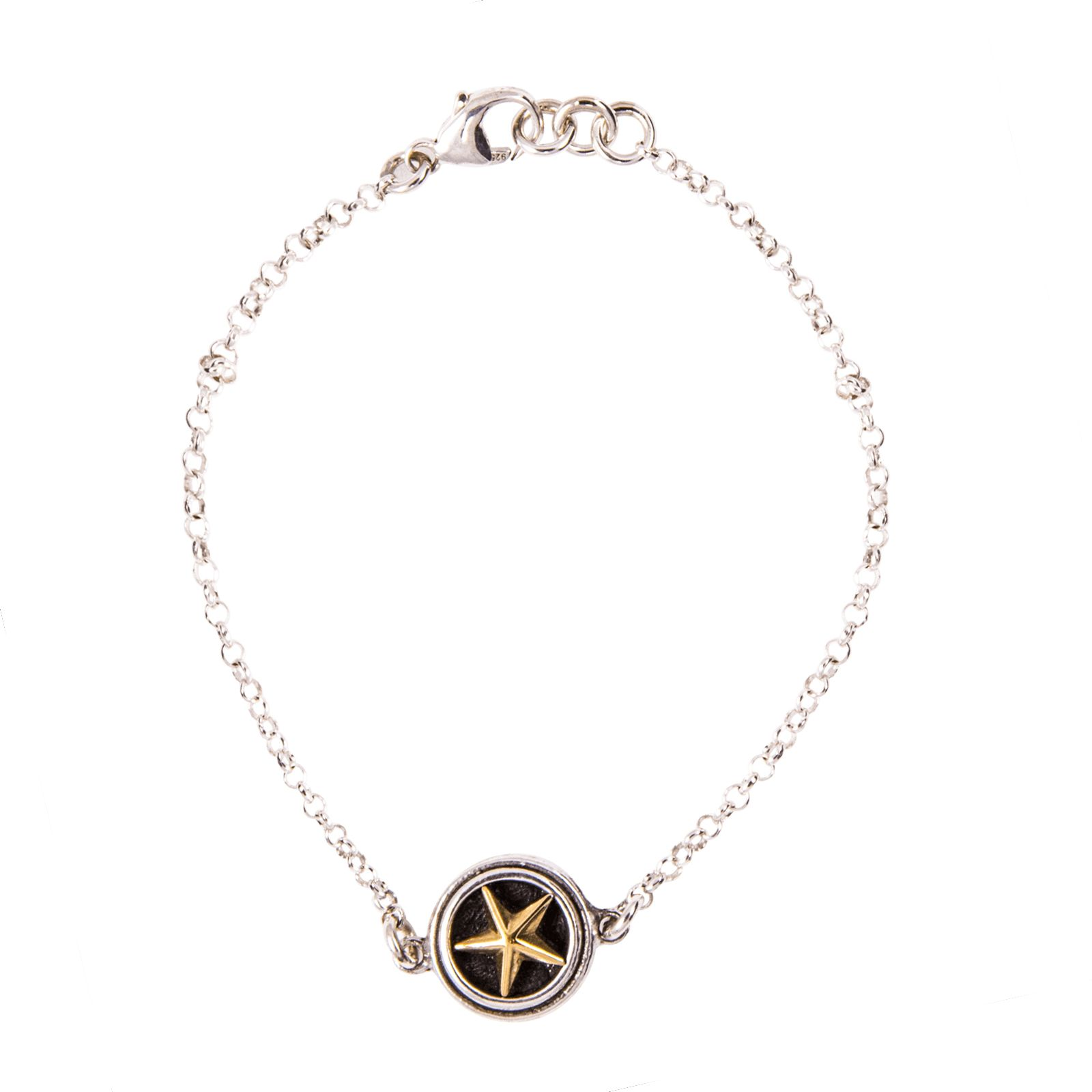 Single Sterling Silver Lone Star Bracelet