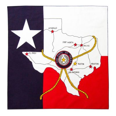 Texas Roadmap and State Flag Bandana