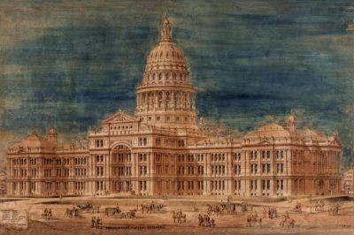 Elijah E Myers Texas Capitol, 1882