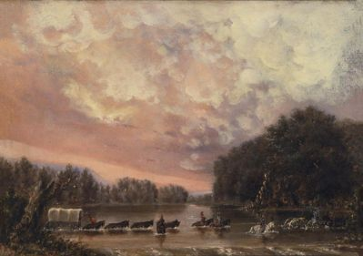 Harry S. Sindall Fording the Pecos River, 1857-1858