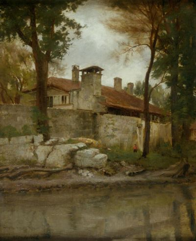 Robert Jenkins Onderdonk Twohig House on the Banks of the San Antonio River, c. 1915