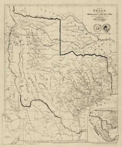 John Arrowsmith Map of Texas Compiled from Surveys recorded in the Land Office of Texas 1841