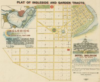 D. C. Kolp and E. D. Allen, publishers Plat of Ingleside and Garden Tracts 1890