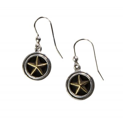 Sterling Silver Lone Star Earrings