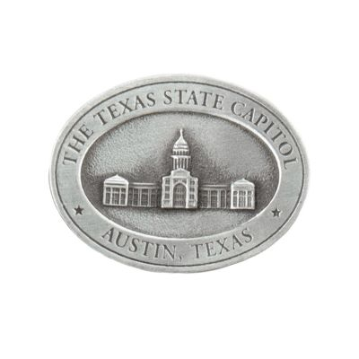 Texas Capitol Pewter Magnet