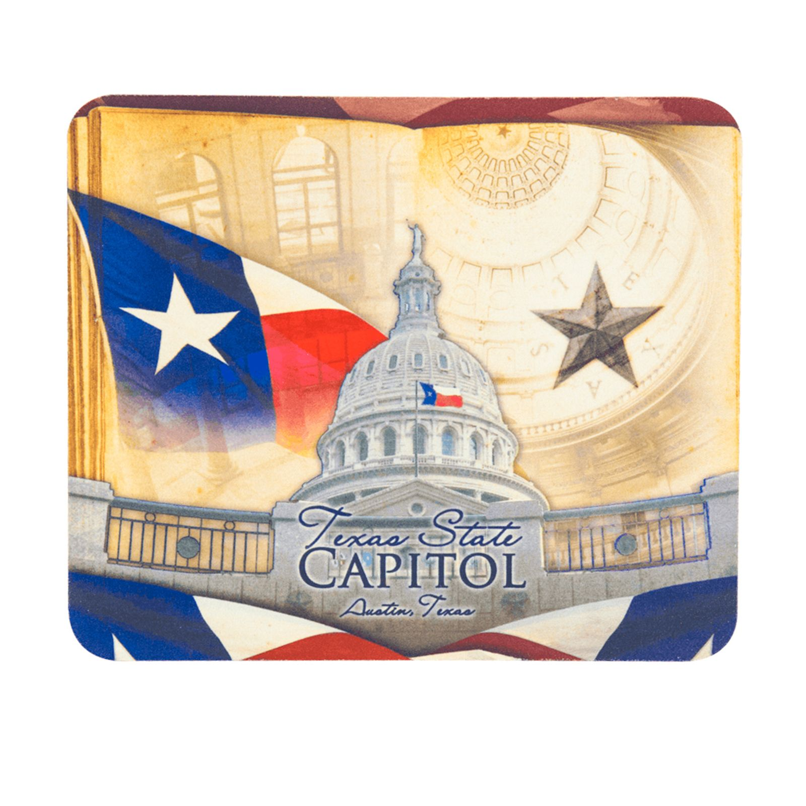 Texas Capitol Collage Mouse Pad