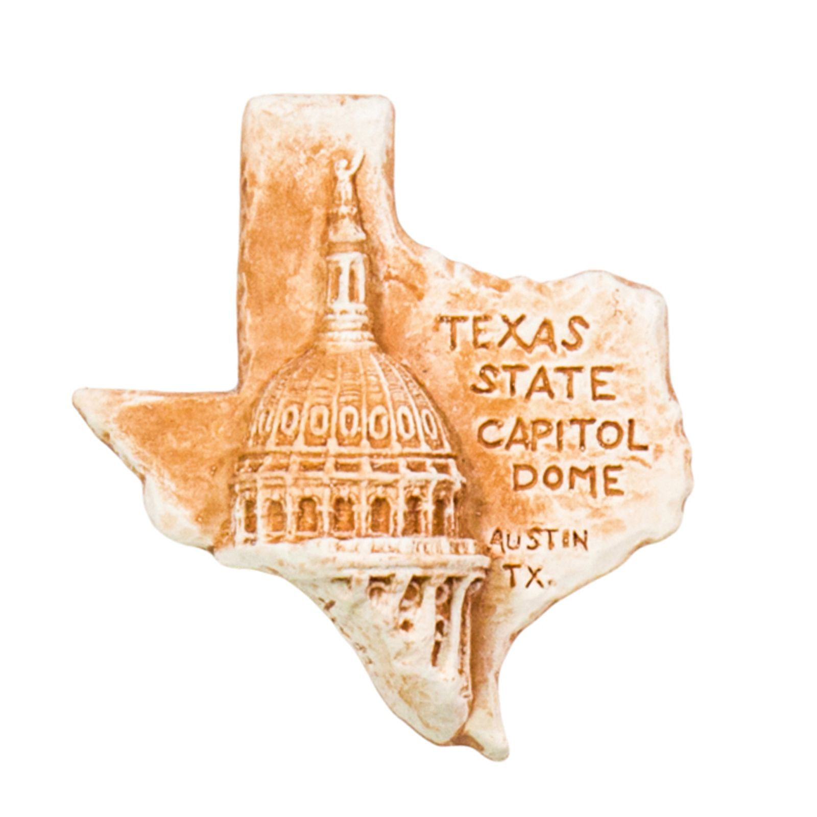 Texas Shaped Capitol Dome Magnet