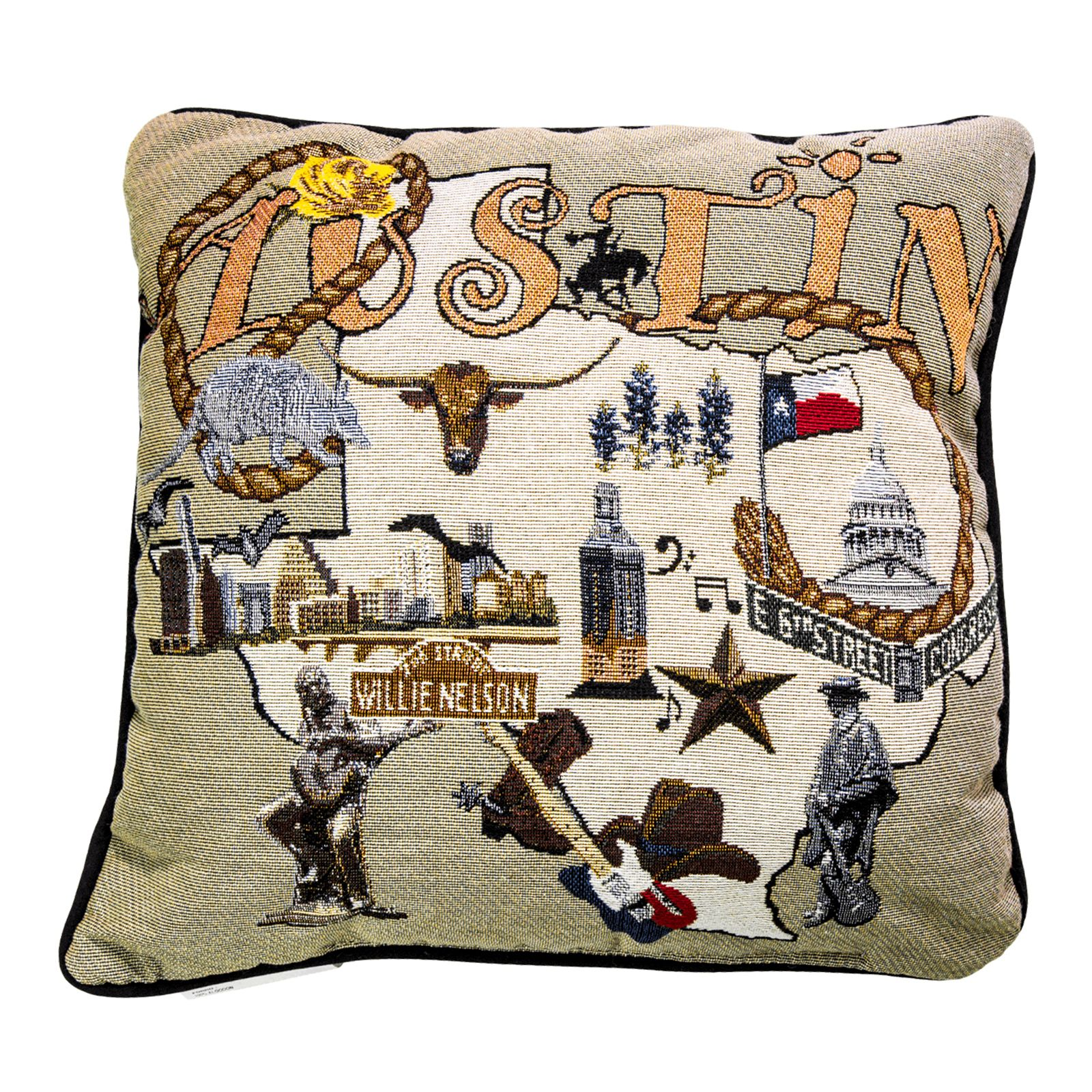 Austin Icon Woven Accent Pillow