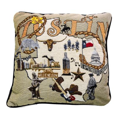 Austin Icons Pillow