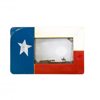 Texas State Flag Barnwood Photo Frame