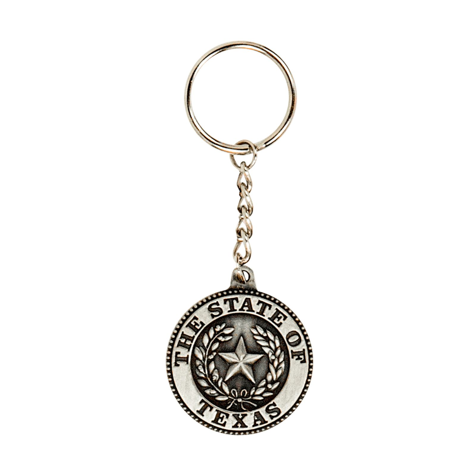 Pewter State Seal Key Chain