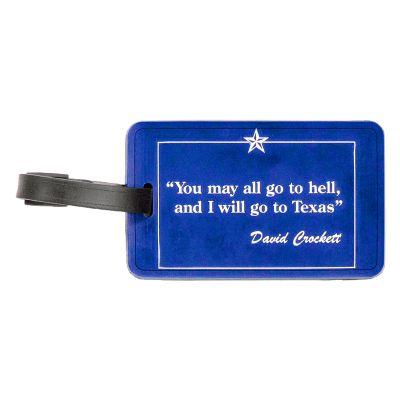Davy Crockett Quote Luggage Tag