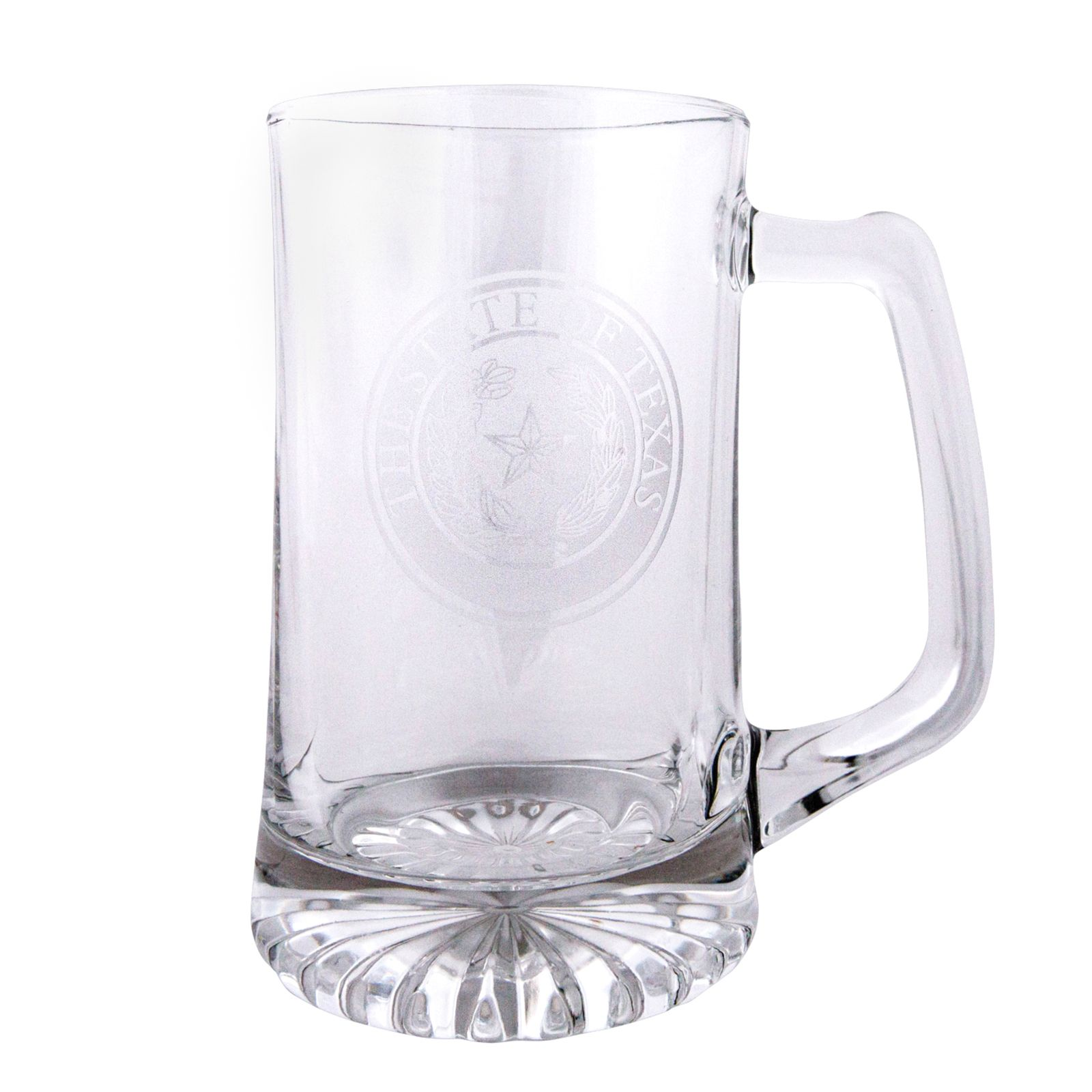 Texas State Seal Etched Beer Stein