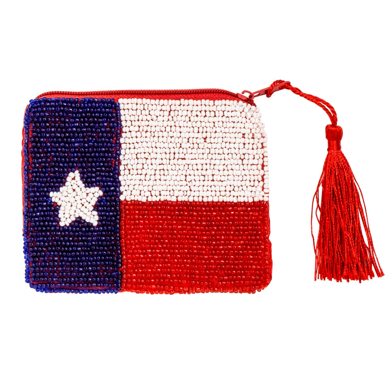 Beaded Texas Flag Purse