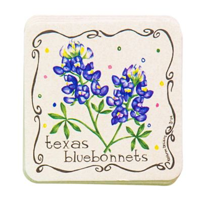 Bluebonnet Coaster Set