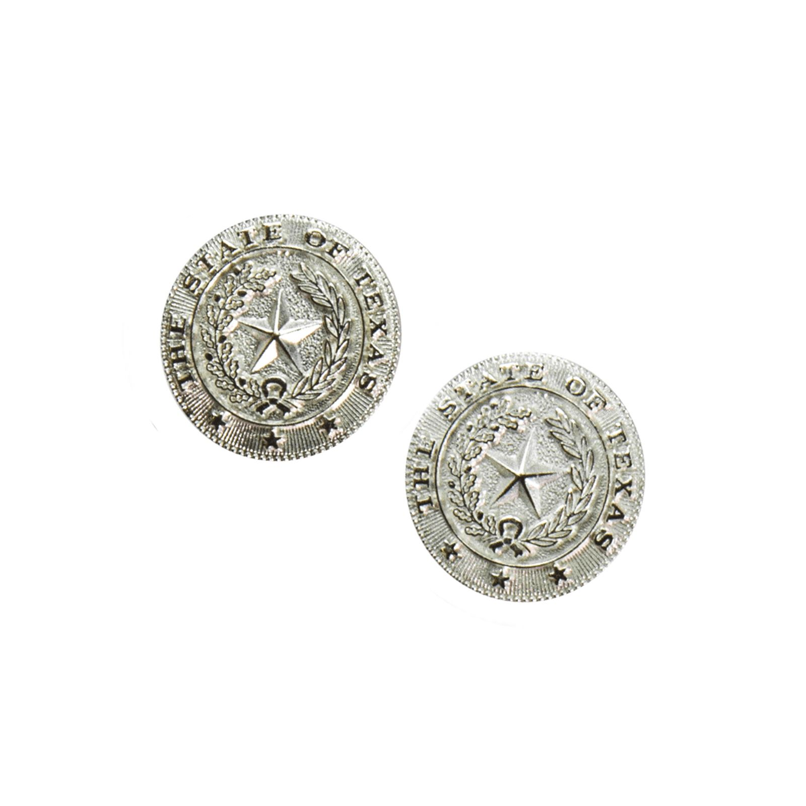 Silver Plate State Seal Earrings