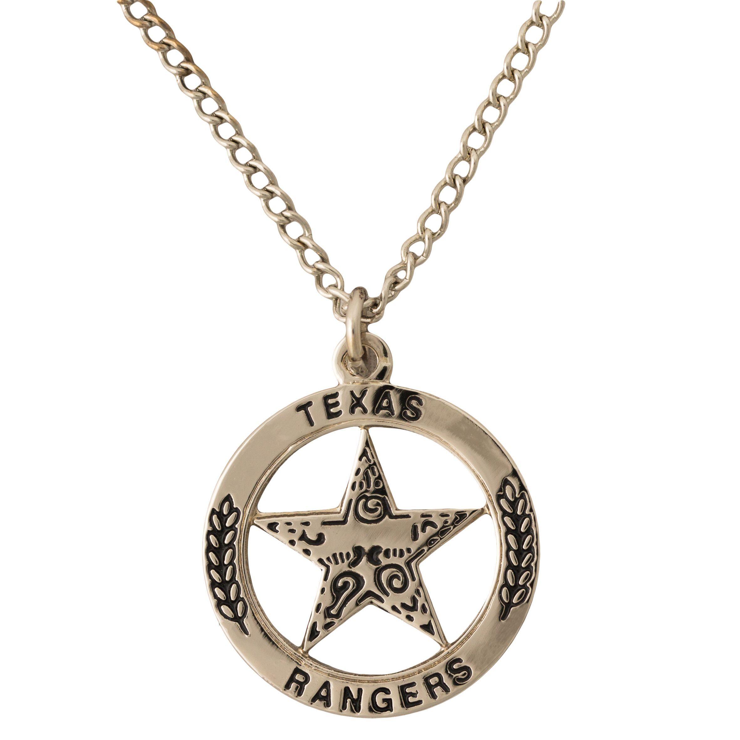 Texas Ranger Silver Tone Pendant Necklace Texas Capitol Gift Shop