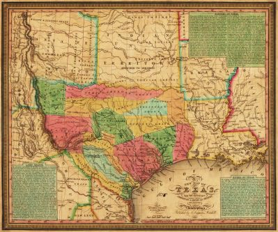 S. Augustus Mitchell New map of Texas : with the contiguous American & Mexican states, 1835