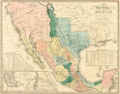 Henry Schenck Tanner A map of the United States of Mexico : as organized and defined by the several acts of the Congress of that Republic, 1846
