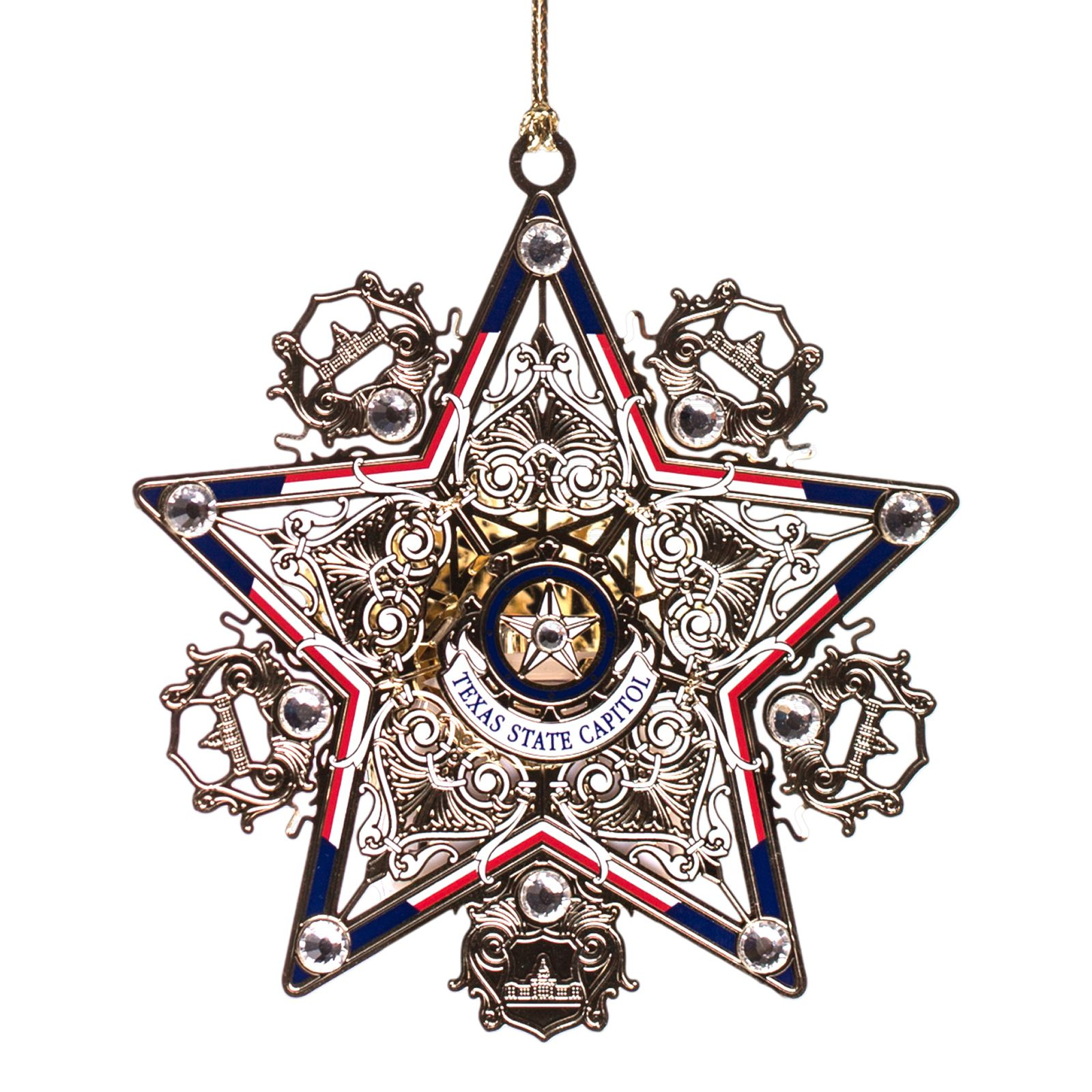 Texas Star Lighted Ornament